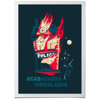 acab art print police station